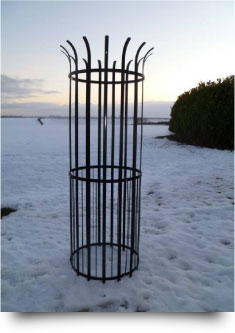Metal Tree Guard - Protection against damage to trees from livestock, mowers and wildlife as well as vandalism